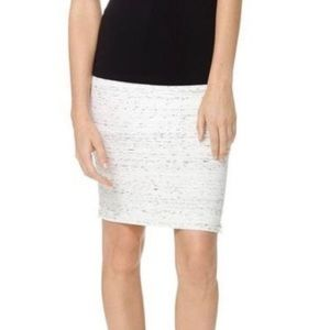 Wilfred Aritzia Bandage Bodycon High Waisted Skirt Side Zippers Heather White